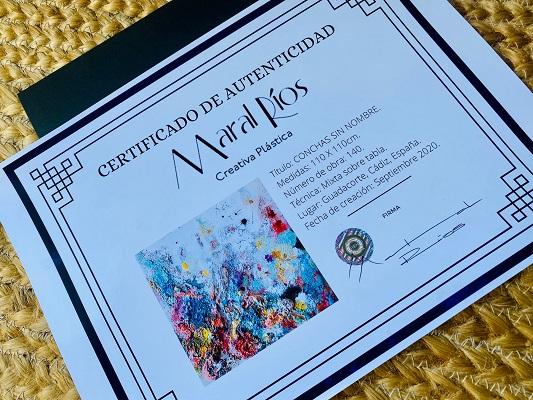 Certificado de autenticidad Maral Ríos
