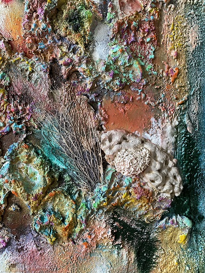 Detalle Obra Conchas sin nombre II - Colección Abstractos - Maral Ríos